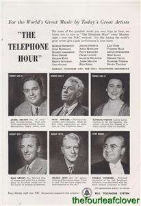 Bell Telephone System NBC Hour Bing Crosby Nelson Eddy James Melton