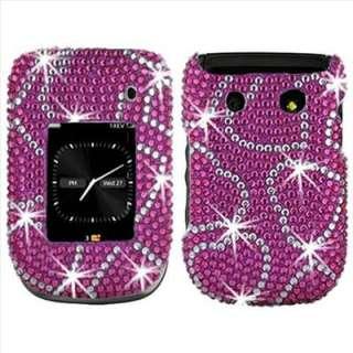 Pink Heart Bling Case Cover For Blackberry Style 9670