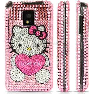 PINK HELLO KITTY CRYSTAL BLING CASE FOR LG OPTIMUS 2X