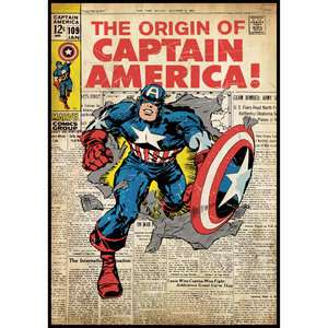 RoomMates Wall Decal, Captain America Comic Book Cover Decor