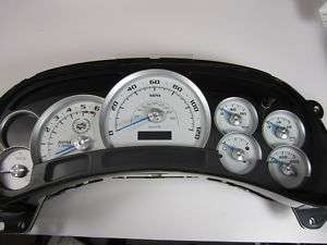 Chevy GMC Cadillac Escalade Cluster Custom White Gauge