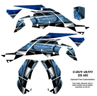 Can Am DS 450 ATV Quad Graphics Kit Decals #2001Blue