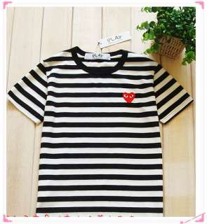 Comme des Garcons PLAY Mens Striped T Shirt SizeM