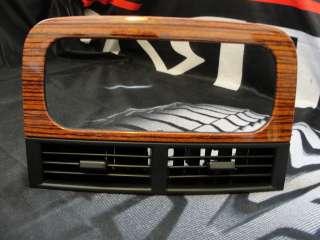 1999 2004 Jeep Grand Cherokee Air Vent Radio Wood Grain Dash Bezel