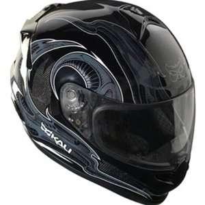 Kali Horns Naza Carbon Street Racing Motorcycle Helmet   Black / 2X