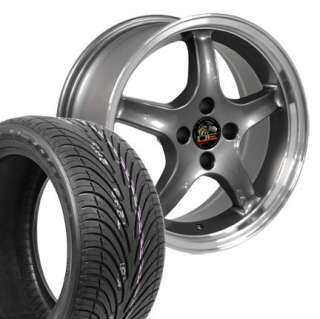 17 8/9 Gunmetal Cobra R Wheels Nexen Tires Rims Fit Mustang® 79 93