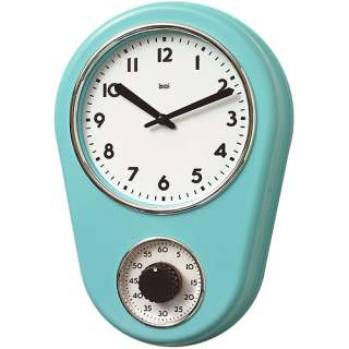 Bai Retro Kitchen Timer Wall Clock Turquoise