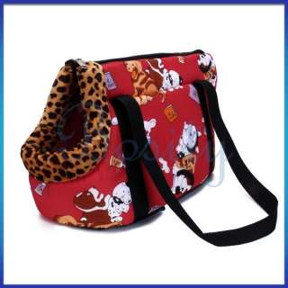 Dog Cat Pet Travel Carrier Tote Bag Purse Size S Red
