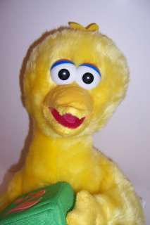 NEW Sesame Street BIG BIRD Large 18 PLUSH DOLL w/Block
