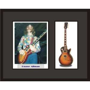 DUANE ALLMAN Guitar Shadowbox Frame Allman Brothers