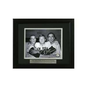 Joe Pepitone Autographed with Mickey Mantle and Roger Maris Framed 8