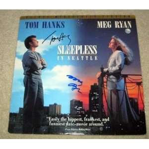 TOM HANKS & MEG RYAN autographed SLEEPLESS SIGNED LASER
