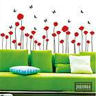 poppy Home Art deco Wall Mural Decal Sticker wallpaper cute