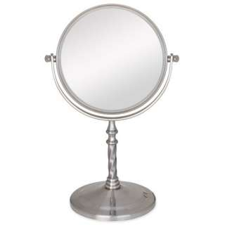Products Two Sided Non Lighted Vanity Mirror in Satin Nickel Makeup