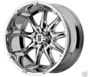 BADLANDS Chrome OFFROAD Ford Dodge GM Truck RIMS Wheels SET