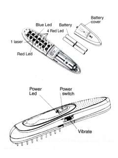 Laser Hair Loss Treatment Power Grow Comb Kit Stop Hot Brush Reduce