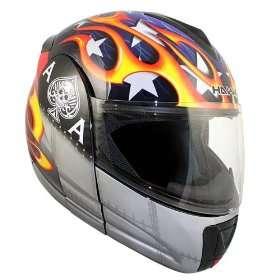 Advanced Hawk Ace Skull Modular Dual Visor Full Face Motorcycle Helmet