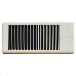 Low Profile 120v Fan Forced Wall Heater w/ Wall Box Color / BTU White