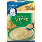 Grain Cereal For Baby 16 oz Gerber Mixed Grain Cereal For Baby 16 oz