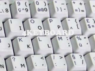 ENGLISH US TRANSPARENT KEYBOARD STICKERS BLACK LETTERS