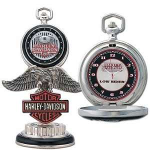 Franklin Mint Harley Davidson Low Rider Pocket Watch Set