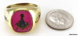 MASONIC Square & Compass RING   10k Solid Gold Craft Mason Symbol