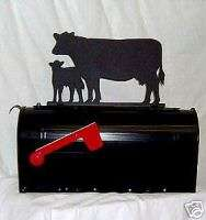 COW CALF Holstein Dairy MAILBOX TOPPER SIGN Steel Metal