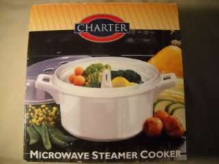 CHARTER MICROWAVE STEAMER COOKER 1 QT. W/BOX & INSTRUCT