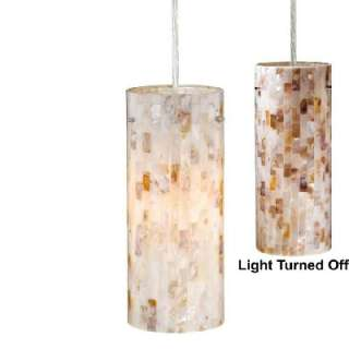 Pendant Lighting Fixture OR Track Light, Satin Nickel, Mosaic Shell