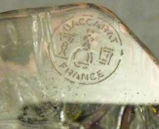 Baccarat Crystal art glass Nativity Scene Musical ANGEL WITH HORN 6