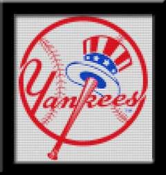 NEW YORK YANKEES LOGO   Cross Stitch Patterns/Kits