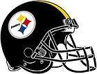 Sheet of 4 Pittsburgh Steelers Helmet NFL Decals Sticker