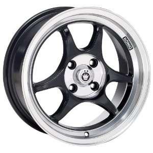 15x7 Konig Csharp (Gloss Black w/ Machined Lip) Wheels/Rims 4x114.3