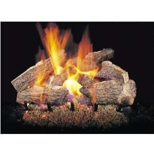 Gas Logs 24 Inch Charred Rugged Split Oak Vented Propane Gas Log Set
