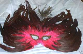 Peacock Flame Feather Mask Masquerade Costume Ball 831687000843