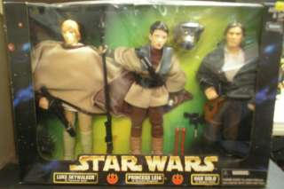 MIB 1998 Star Wars Action Collection 12 Figure 3 Pack Luke,Leia & Han