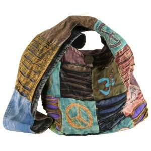 : Earth Divas CBG 230 P Cotton Patchwork Unique Sling Handbag: Beauty