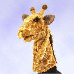 New Zoo Giraffe Stage Hand Puppet Stuffed Plush Toy Folkmanis