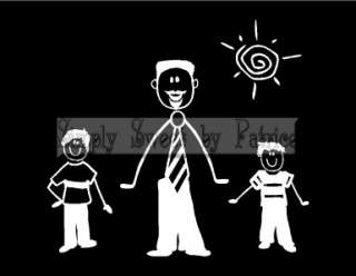 CUSTOM 9 STICK FIGURE PEOPLE FAMILY Vinyl Car Auto Window Decal Sign