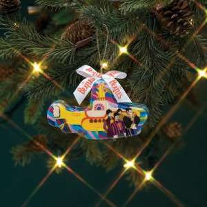 New The Beatles Christmas Ornament Yellow Submarine XMAS Hanging Ready