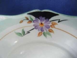 Plant Tuscan china tea set Hand Painted Lilac Purple Black STUNNING