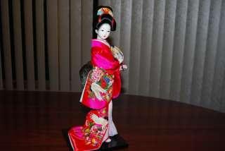 12 Vintage HANDMADE SILK BRODADE JAPANESE GEISHA DOLL !Fast & Free