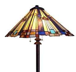 NEW Tiffany Style Mission Stained Glass Floor Lamp Colorful 15 Shade