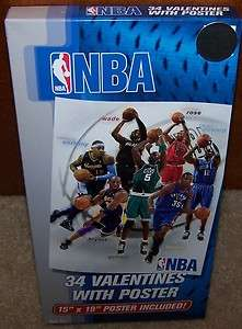 NIB Valentines Day Cards (Box of 34) NBA Basketball