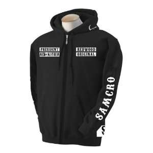 Fully Loaded 3* Samcro Sons of Anarchy Zipup Hooded Jacket   Size